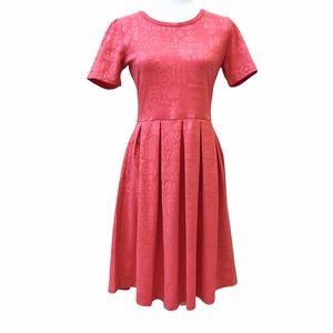 LuLaRoe Amelia Dress - Pink - Size M (NWT)